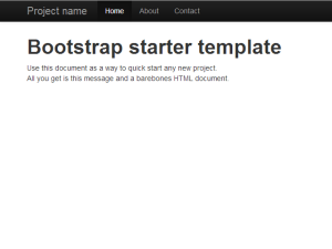 Screen shot: Bootstrap Starter Template All in One File Using CDN