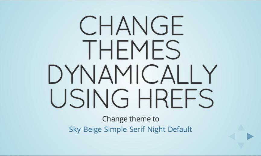 reveal.js example sky theme