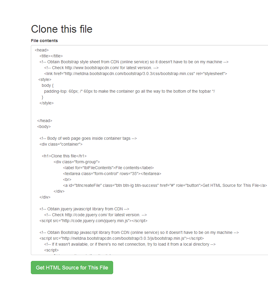Html cheats copy and paste html cheats and sheets for bootstrap this program clones itself falaconquin