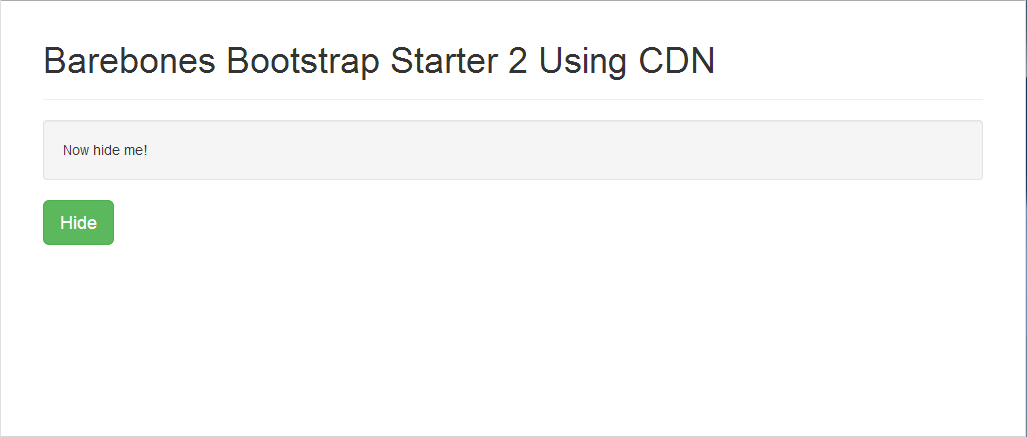 bootstrap-starter-cdn-2-second