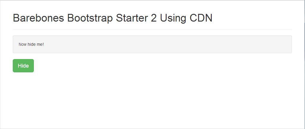 bootstrap-starter-cdn-2-second